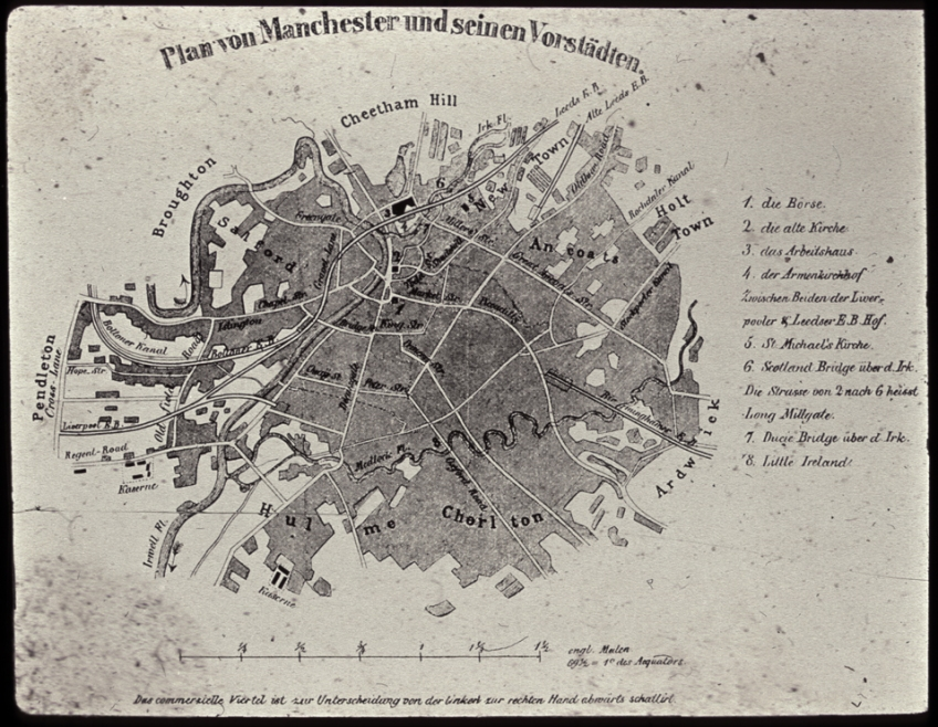 Engels plan of Manchester, 1844
